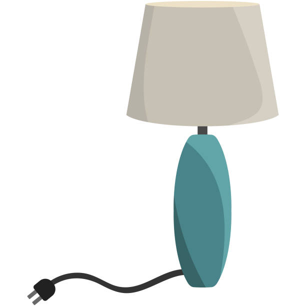 table lamp light illustration - electrical wiring home stock illustrations, clip art, cartoons, & icons