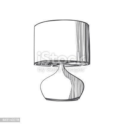 Table Lamp Sketch Stock Vector Art & More Images of Art