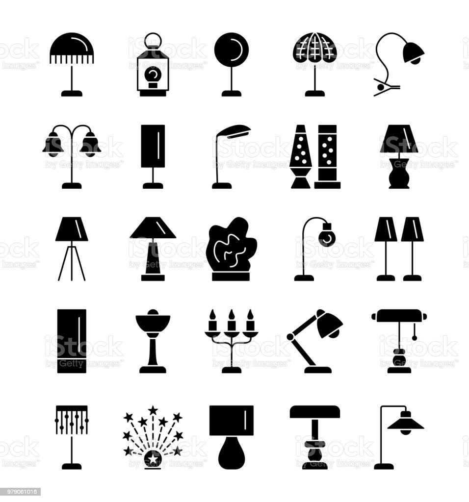 Lampes De Table De Types Differents Ensemble De Luminaires Pour
