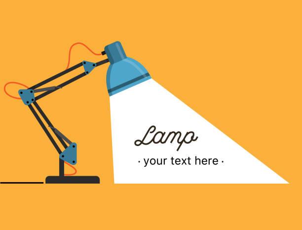 illustrations, cliparts, dessins animés et icônes de lampe de table de bureau. ordinateur de bureau électrique. - lampe électrique