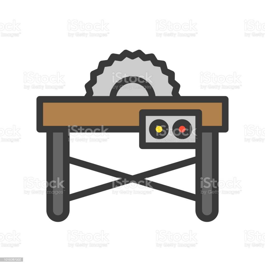 Table saw filled outline icon carpenter and handyman tool and table saw filled outline icon carpenter and handyman tool and equipment set royalty greentooth Image collections