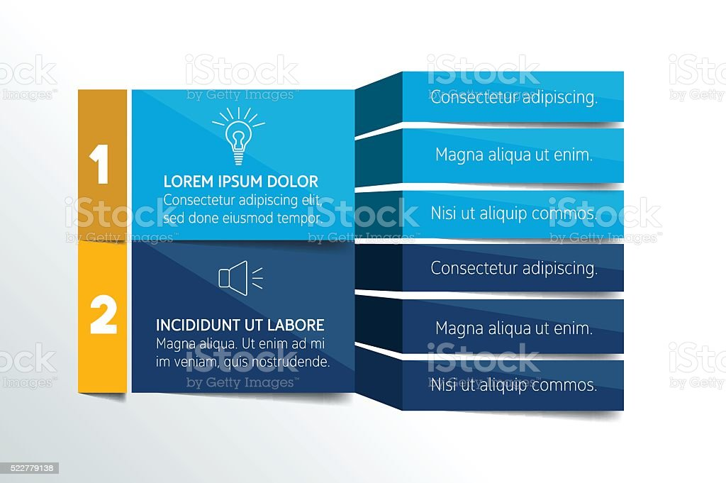 Table, schedule design template with 3 row. Vector banner. vector art illustration