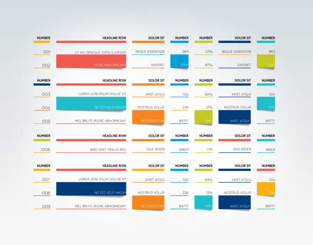 table, schedule, tab, planner, infographic design template. vector. - pricing infographics stock illustrations, clip art, cartoons, & icons