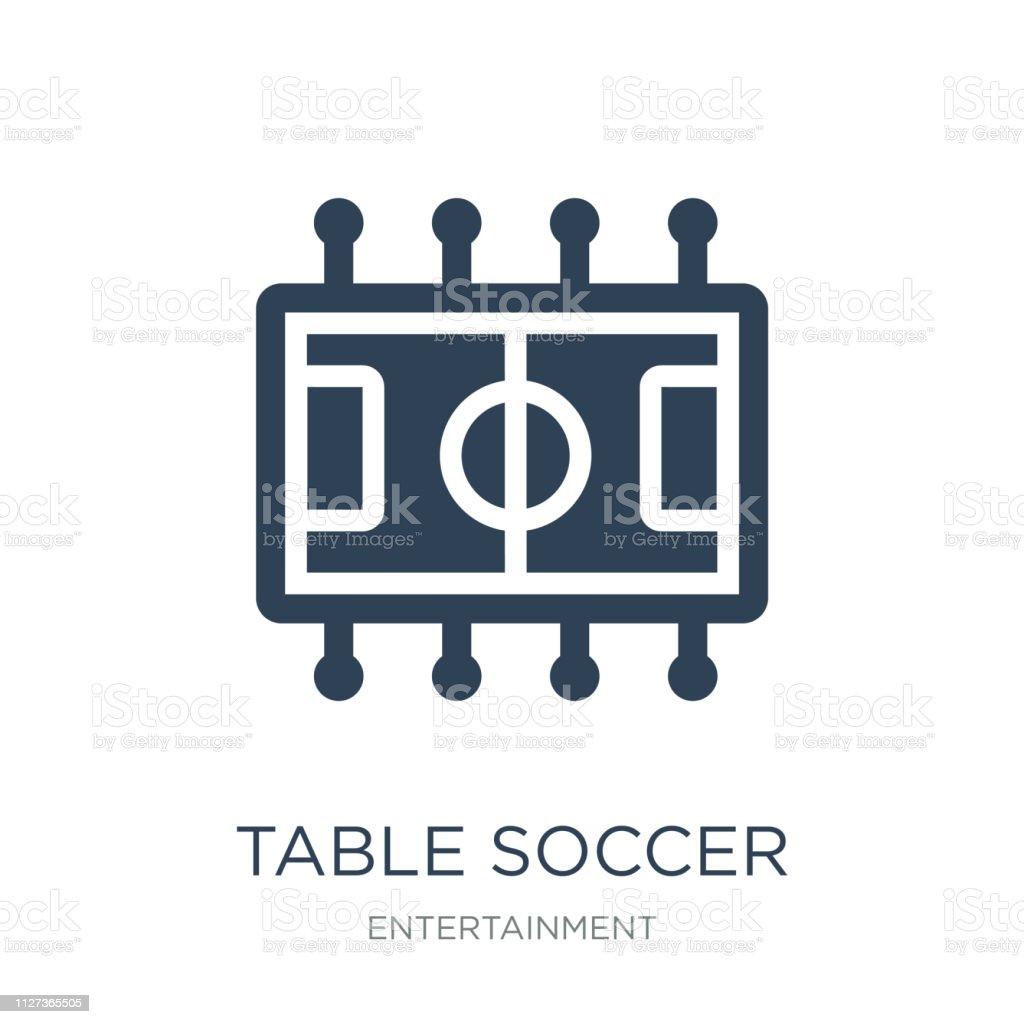 table soccer icône vecteur sur fond blanc, tendance de football de table - Illustration vectorielle