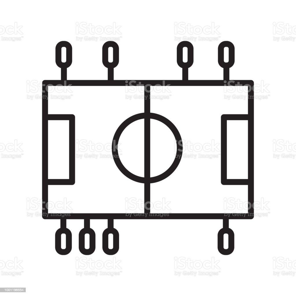 Table Soccer icône vector signe et le symbole isolé sur fond blanc - Illustration vectorielle