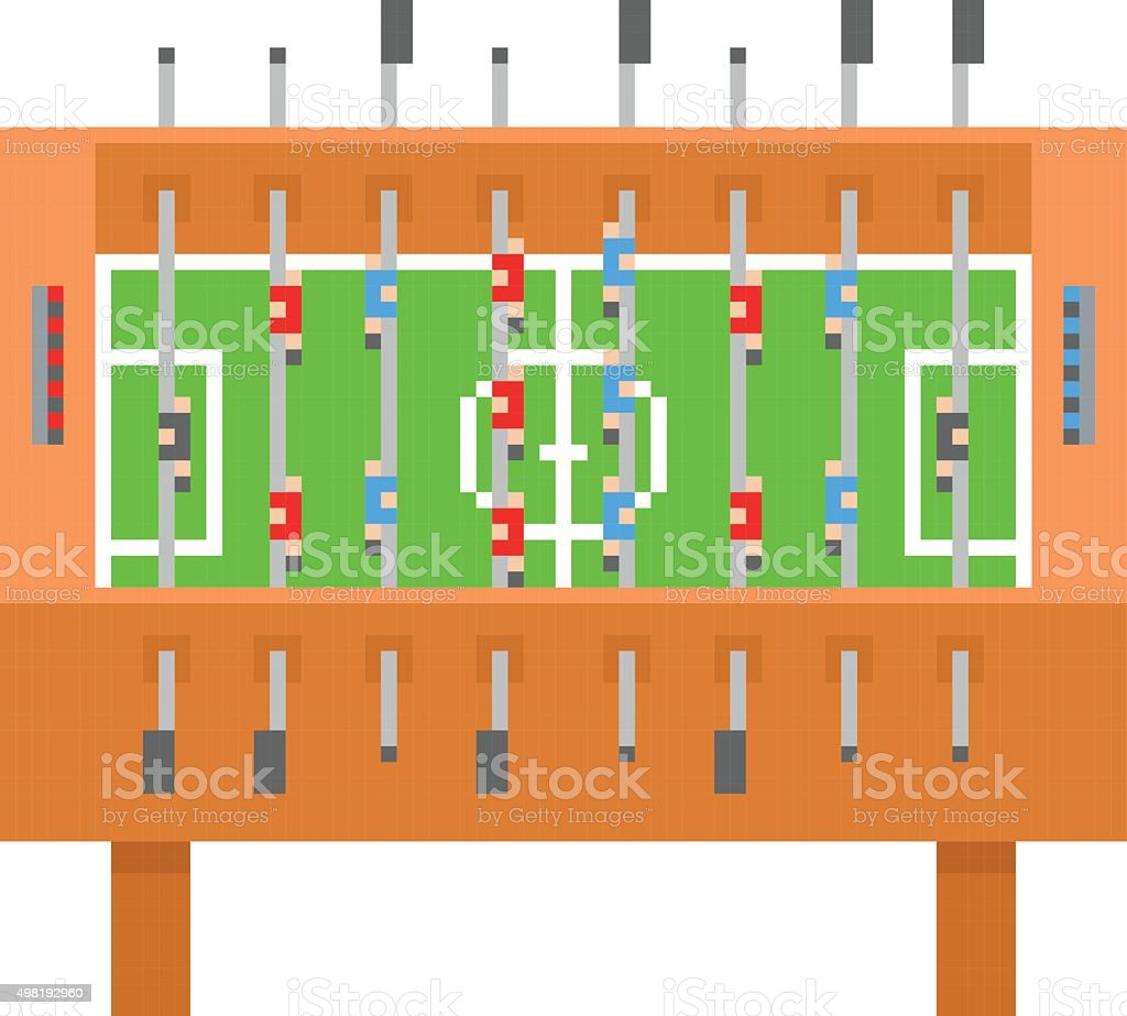 Table football pixel art illustration vectorielle kicker, bar de football - Illustration vectorielle