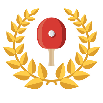 Table Tennis Award Icon on Transparent Background