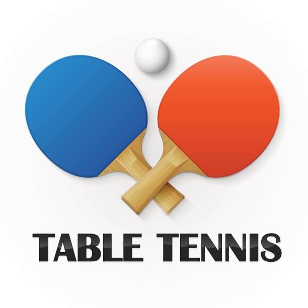 Table tennis background Table tennis background. Vector illustration table tennis racket stock illustrations
