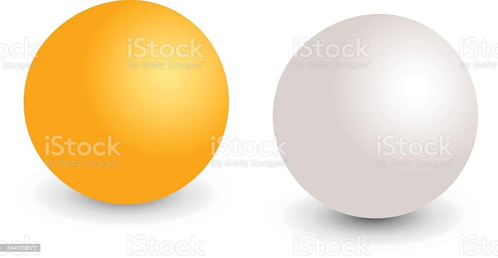 Table tennis ball cartoon