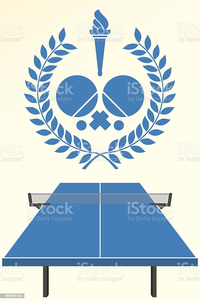 Table tennis emblem royalty-free stock vector art