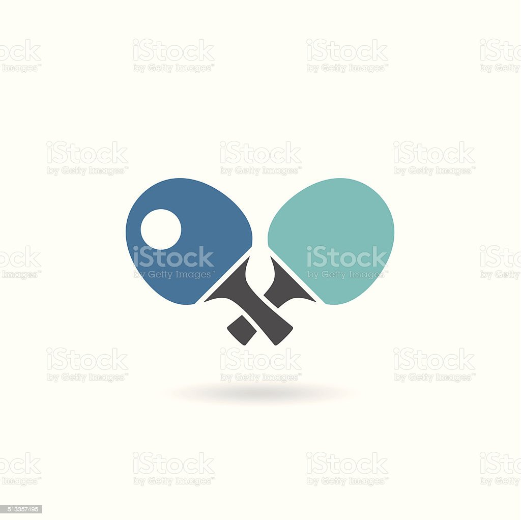 Table tennis icon vector art illustration