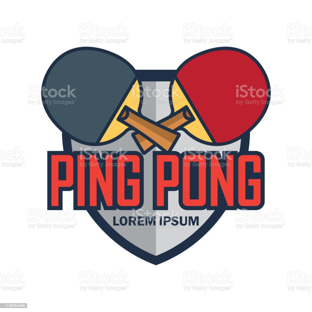 Table Tennis Ping Pong Insignia With Text Space For Your Slogan