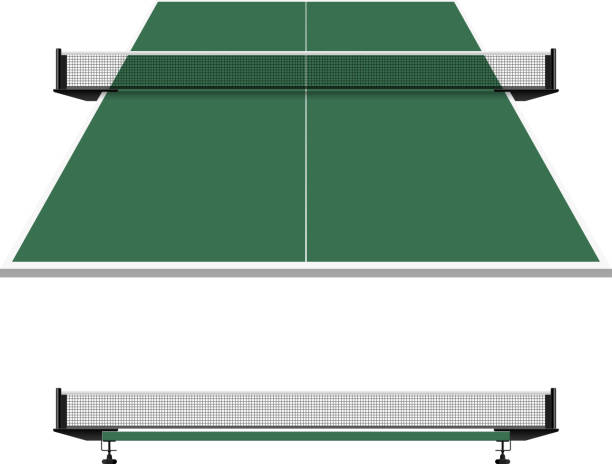 Table tennis, ping pong net Vector illustration with transparent effect. Eps10. ping pong table stock illustrations