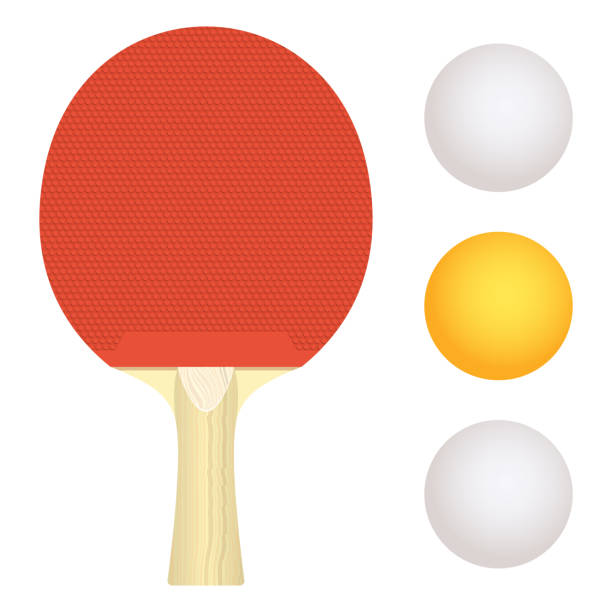 Table tennis racket vector design illustration isolated on white background Beautiful vector design illustration of table tennis racket isolated on white background table tennis racket stock illustrations