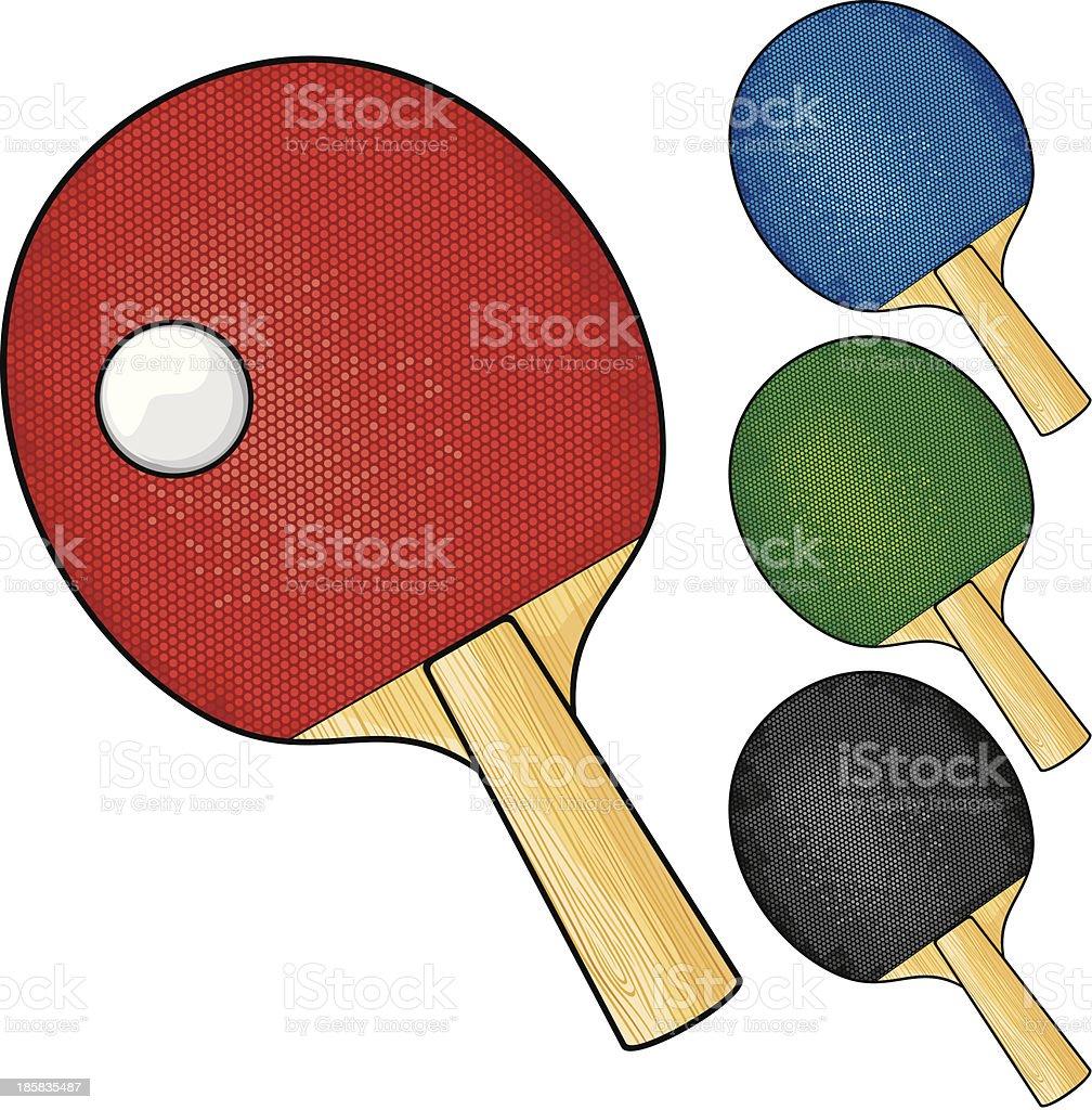 3b31252f9 Raquetes e bolas de tênis de mesa vetor de raquetes e bolas de tênis de mesa