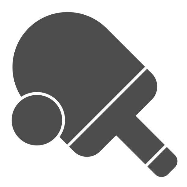 Table tennis solid icon. Ping pong vector illustration isolated on white. Tennis racket and ball glyph style design, designed for web and app. Eps 10. Table tennis solid icon. Ping pong vector illustration isolated on white. Tennis racket and ball glyph style design, designed for web and app. Eps 10 table tennis racket stock illustrations