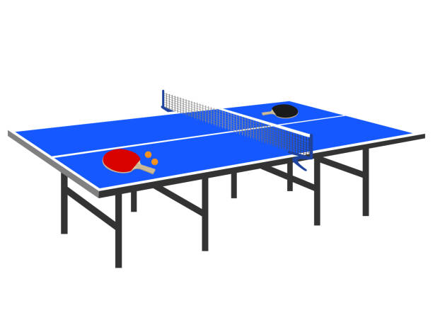 Table tennis table Table tennis table ping pong table stock illustrations