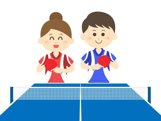 Table tennis Table tennis ping pong table stock illustrations