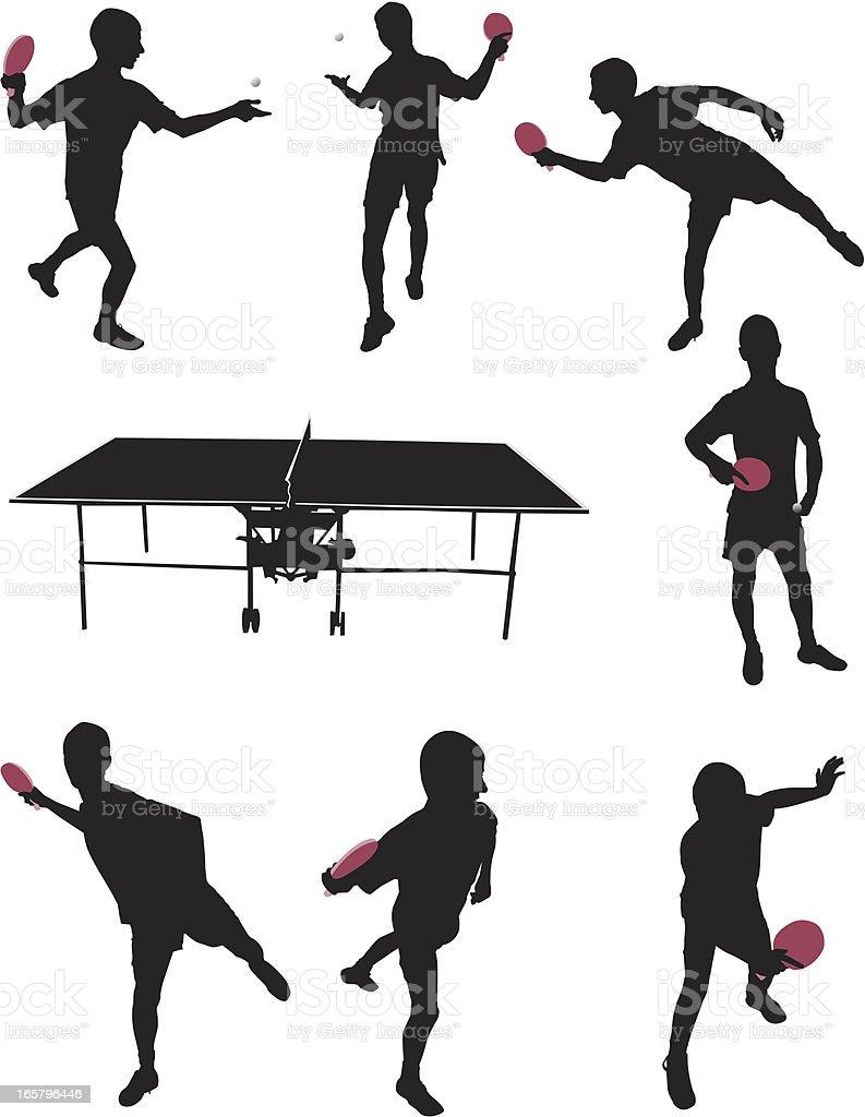 Table tennis vector art illustration