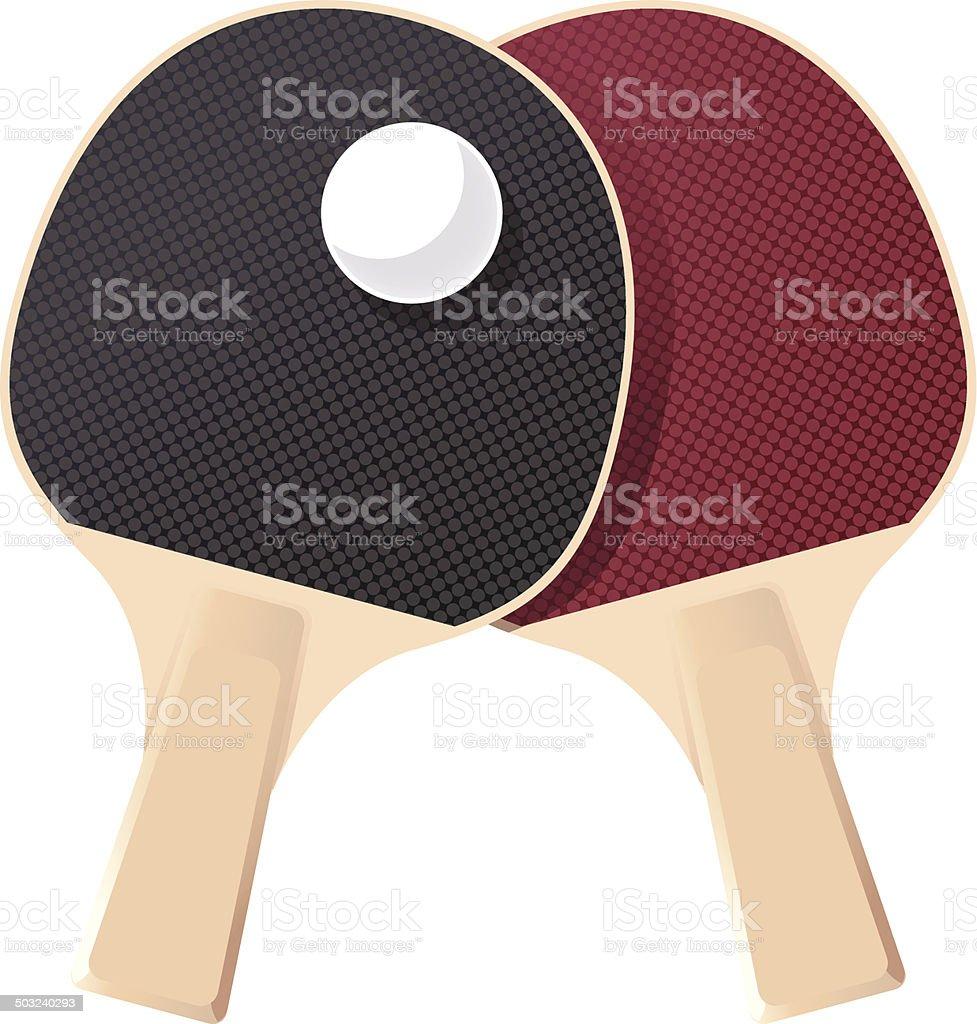 Table tennis royalty-free stock vector art