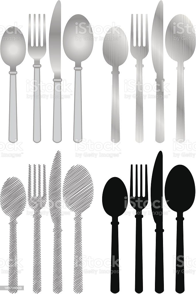 Table Utensils royalty-free stock vector art