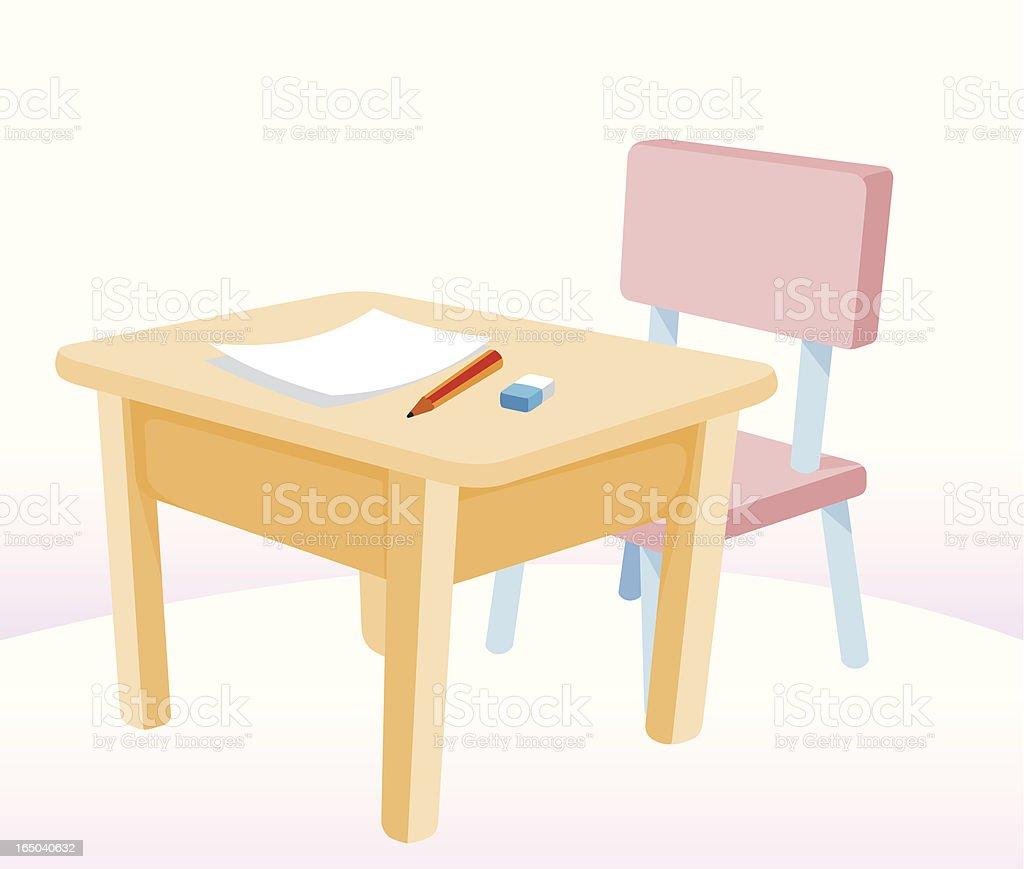 Table vector art illustration