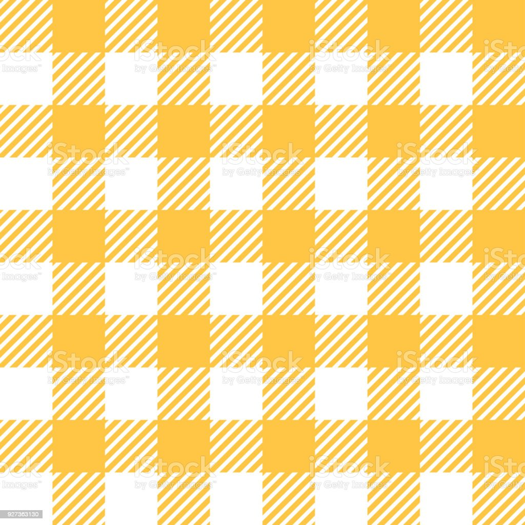 Tablecloth in yellow with Checkered design - Royalty-free Abstract stock vector