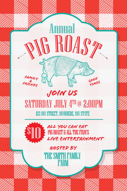 Royalty Free Pig Roast Clip Art Vector Images Illustrations Istock