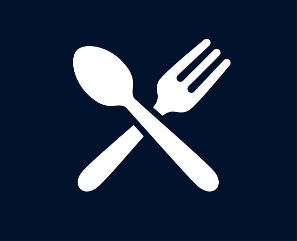 Tablespoon And Fork - Vector Tablespoon and fork vector illustration spoon stock illustrations