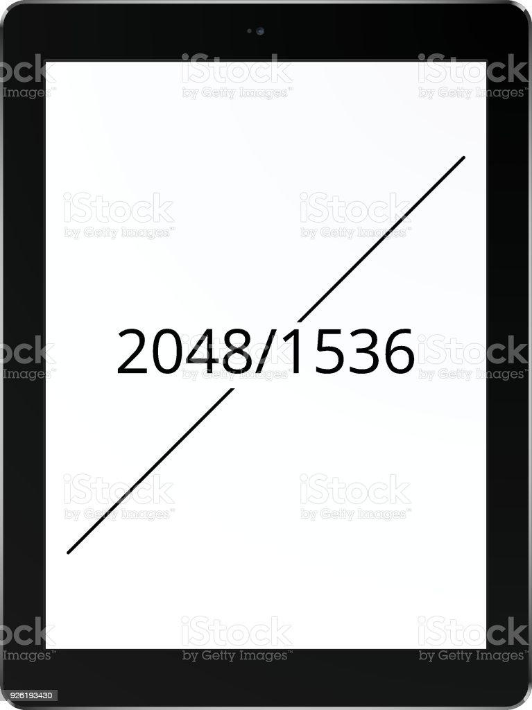Tablet 2048 x 1536 screen concept vector art illustration