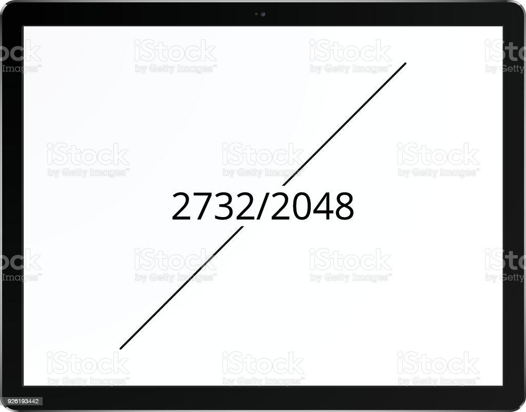 Tablet 2048 x 2732 screen concept vector art illustration