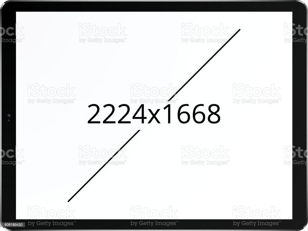 Tablet 2224 x 1668 screen concept vector art illustration