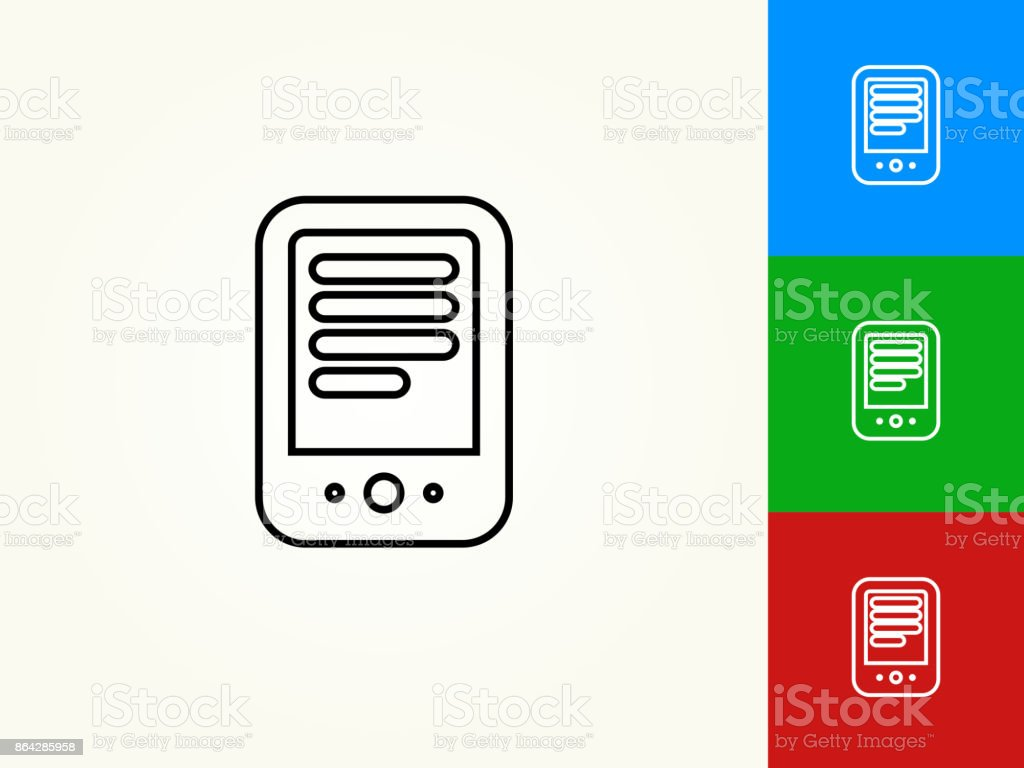 Tablet Black Stroke Linear Icon royalty-free tablet black stroke linear icon stock vector art & more images of article