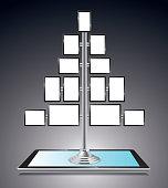 Tablet computer display rack