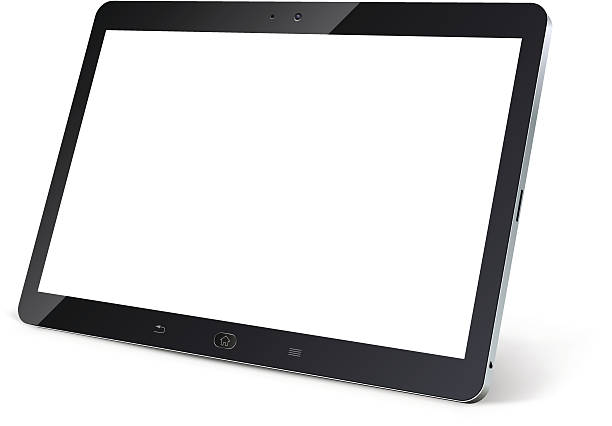 Tablet computer with blank white screen Tablet computer with blank white screen isolated on white background vector illustration. ipad stock illustrations