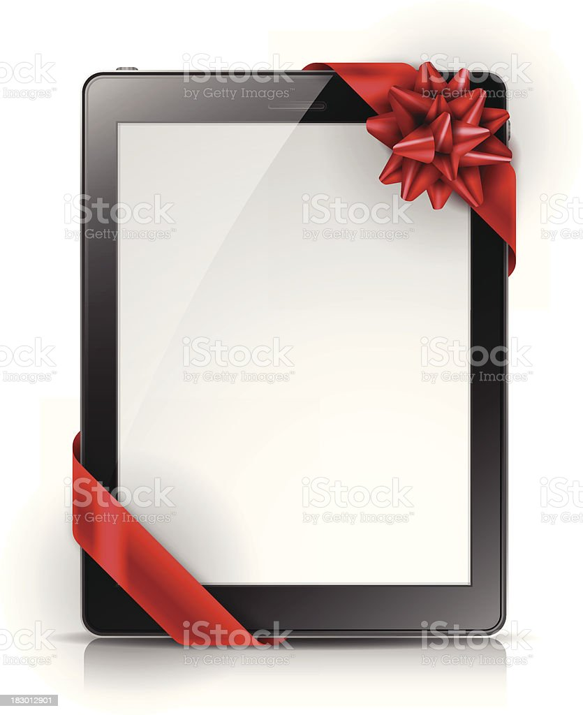 Tablet Gift Background royalty-free stock vector art