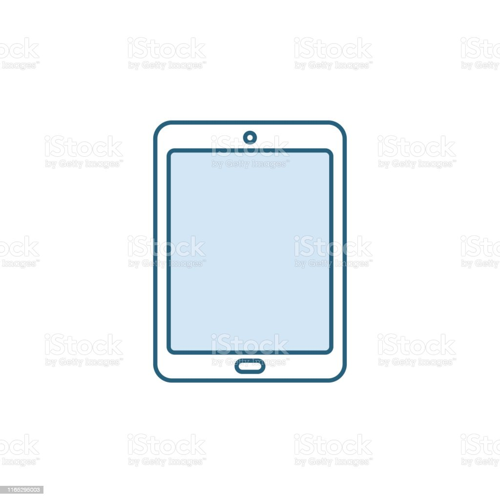 Tablet Icon Digital Device With Touch Screen Ebook Reader