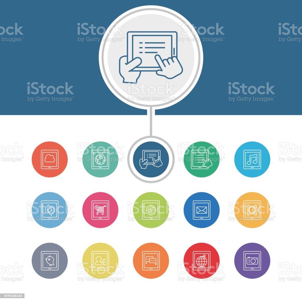 Tablette icônes tablette icônes – cliparts vectoriels et plus d'images de achats en ligne libre de droits