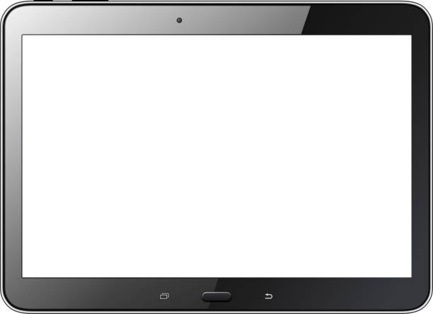 Tablet isolated Tablet computer isolated with blank screen, realistic vector illustration ipad stock illustrations