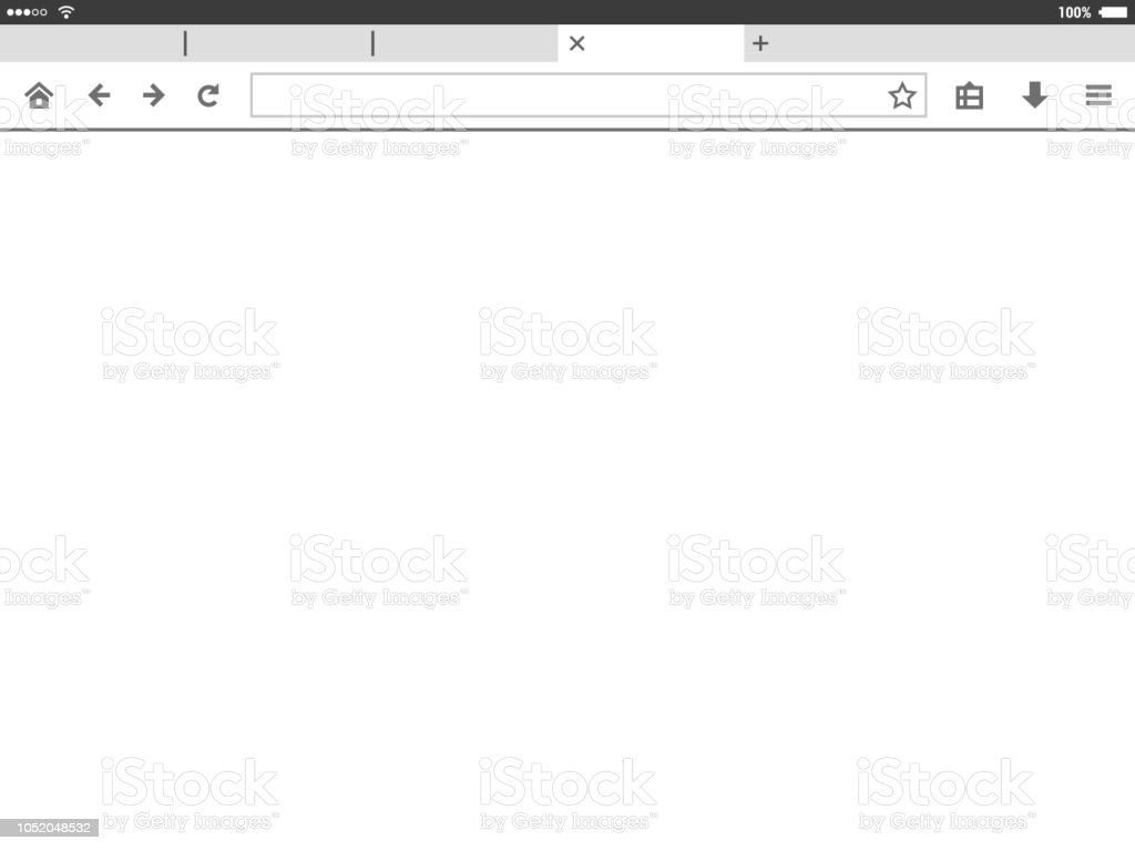 Tablet mobile browser window vector illustration.