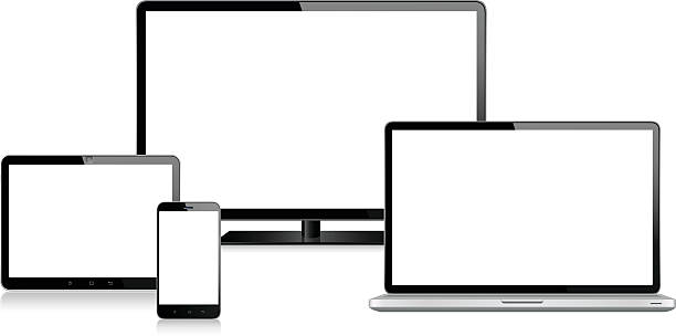 Tablet, Mobile Phone, Laptop and Monitor - Illustration vectorielle