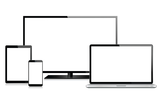 Tablet, Mobile Phone, Laptop and Monitor