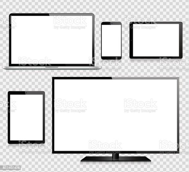 Tablet mobile phone laptop tv and monitor vector id827407426?b=1&k=6&m=827407426&s=612x612&h=seiz9ikp3e  qbz3xeggqtldve7bb4xzvmzadaqz5 w=