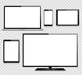 タブレット、携帯電話、ノート パソコン、テレビ、モニター