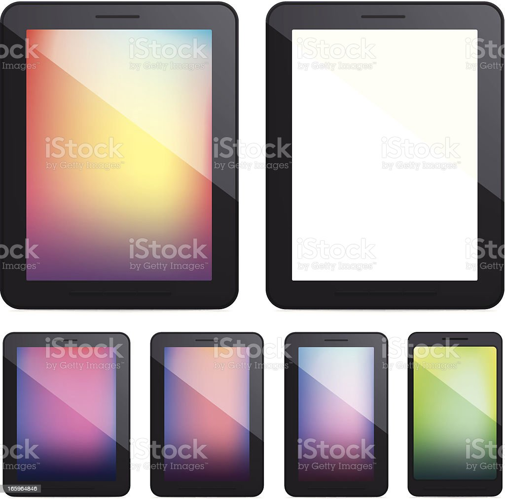 tablet pc and smartphone royalty-free stock vector art