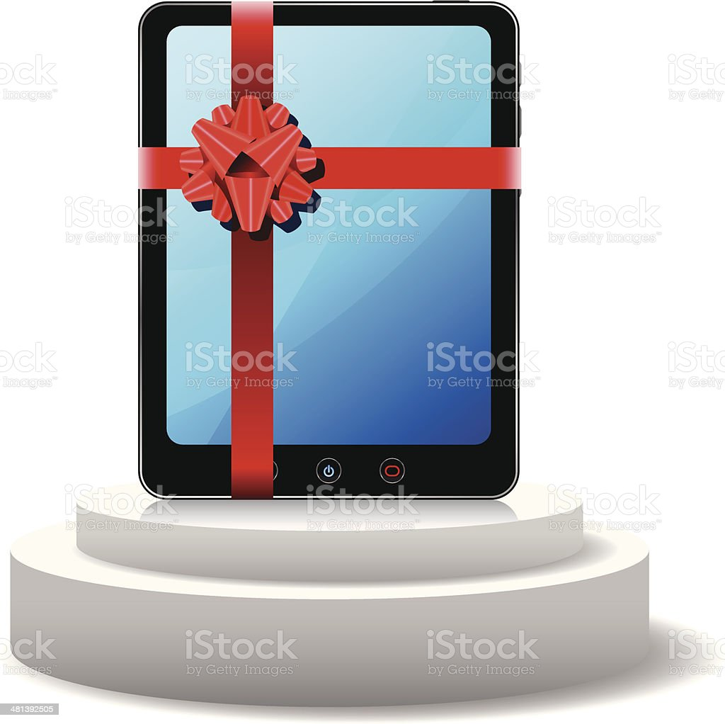 Tablet PC as a Gift royalty-free tablet pc as a gift stock vector art & more images of 3g
