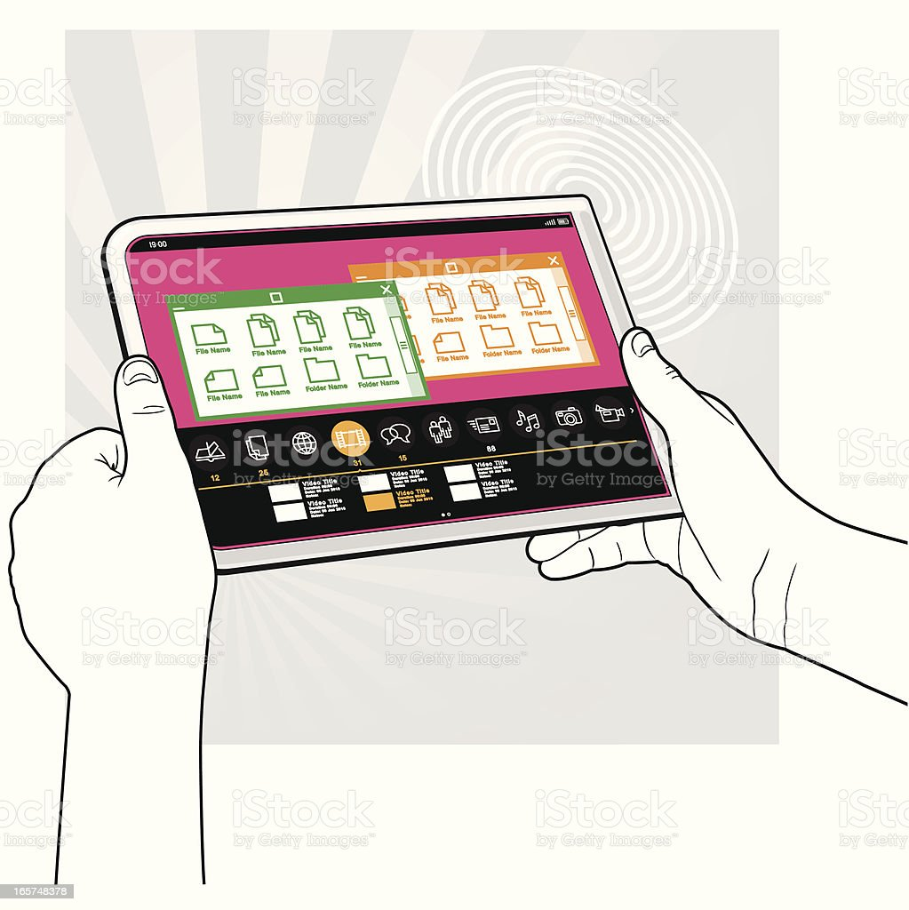 Tablet PC Computer - Concept View 08 royalty-free stock vector art