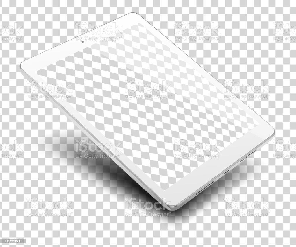 Tablet Pc Computer On Transparent Background Stock Illustration