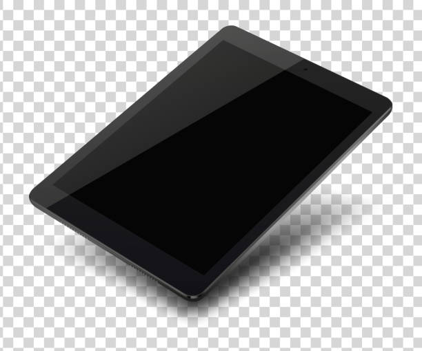 Tablet pc computer with blank screen on transparent background. Tablet pc computer with blank screen on transparent background. Vector illustration. ipad stock illustrations