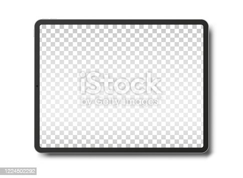 istock Tablet pc computer with blank screen. 1224502292